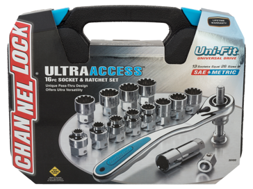 Channellock 16-Piece UltraAcess Uni-Fit Socket Set