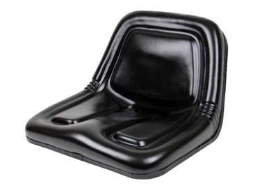 Concentric Intl Deluxe High-Back Steel Pan Seat Black