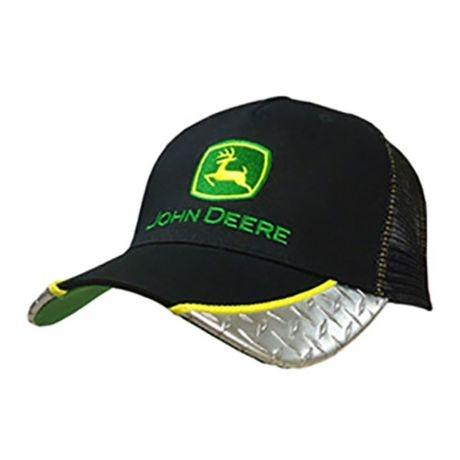 John Deere Mens Black Diamond Plate Mesh Back Cap eff1549a57b