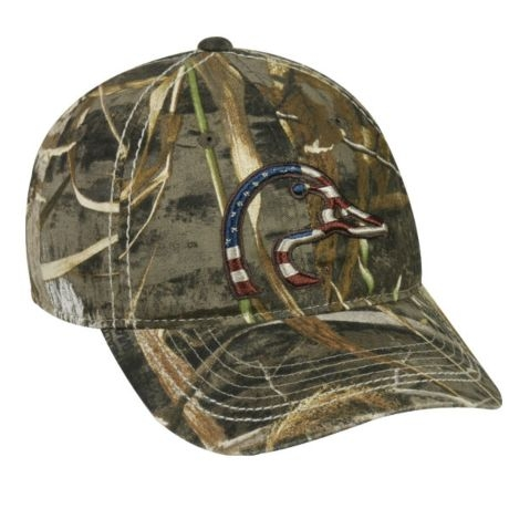 1dd7f6a8ea7c7 Outdoor Cap Patriotic Ducks Unlimited Camo Hat DU63A