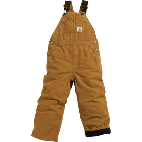 02eaf1d43046d Carhartt Boys Washed Duck Lined Bib Overall