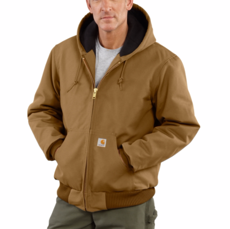 add07a01 Home; Carhartt Quilted Flannel Lined Active Jacket J140. Carhartt Brown