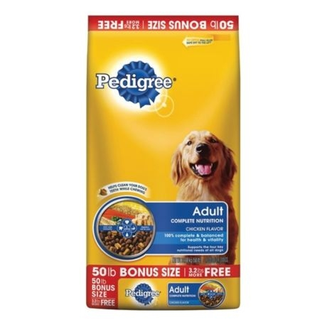 Pedigree 50lb Complete Nutrition Dry Dog Food