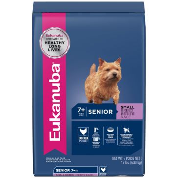 Eukanuba Senior Small Breed Dry Dog Food 15lb.