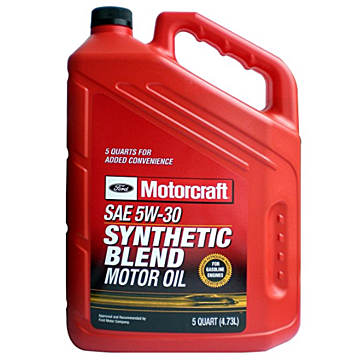 Genuine Ford Fluid 5W-20 Premium Synthetic Blend Motor Oil - 5 Quart