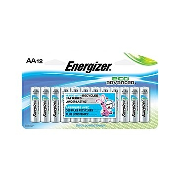 Energizer Eco-Advanced AA Batteries 12PK