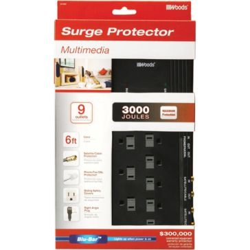 Coleman Cable Surge Protector Strip 9 Outlet 041652