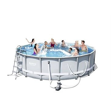 "Bestway Power Steel Frame Round Pool 16' x 48"" 56491E"