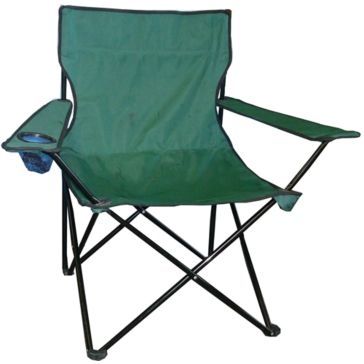 WFS Quad Folding Chair with Armrests and Cupholder