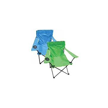 WFS Quad Fashion Folding Chair with Armrests and Cupholder