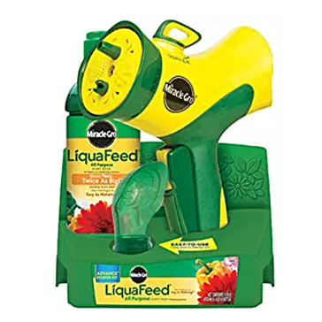 Miracle-Gro LiquaFeed Advance Starter Kit with Garden Feeder, 16 oz. Bottle