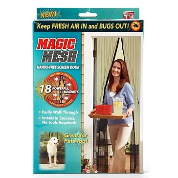 Magic Mesh Hands-Free Magnetic Screen Door