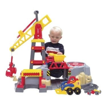 American Plastic Toys - Build & Play Construction Zone Playset