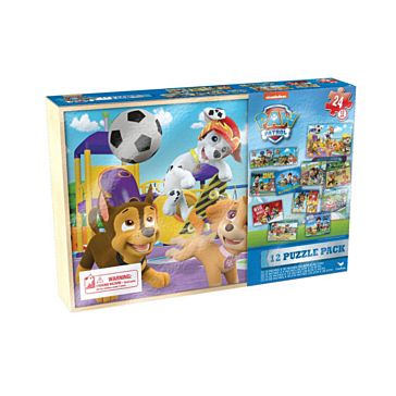 Disney Junior 12 Puzzles in Wood Box