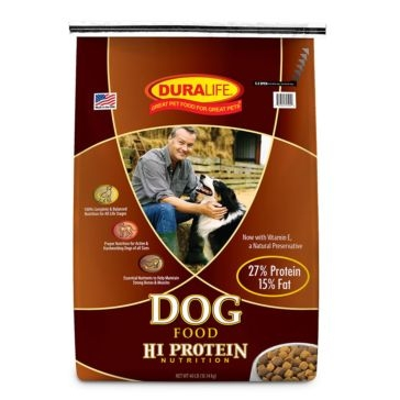 Duralife 27% High Protein Adult Dog Food 40lb