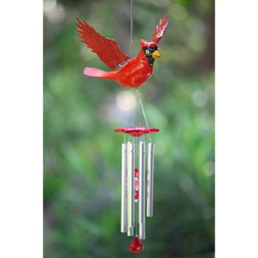 Exhart Large WindyWings Cardinal Wind Chime