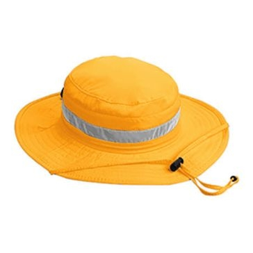 Broner Mens Orange Hi-Viz Big Brim Bucket Hat w/Chincord