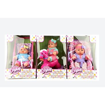"Gi-Go Toys 7"" Baby Doll with Nursery Room Assorted"