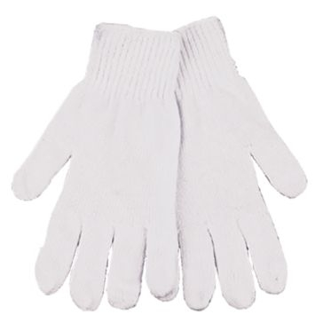 Kinco White String Knits Gloves