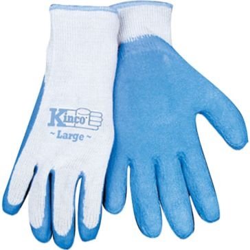 Kinco Blue Latex Palm Gripping Gloves - 3 Pack