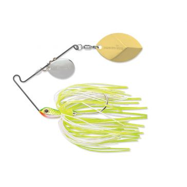 Terminator Super Stainless Spinnerbait 1/4oz Colorado/Willow Blades w/Chartreuse White Shad