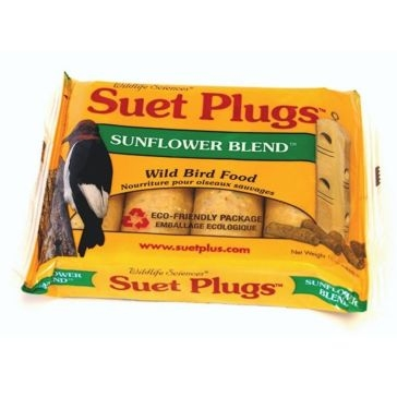 St. Albans Bay Suet Plugs 4 Pack Sunflower Blend