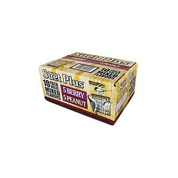 Suet Plus Mixed Flavor Suet Cakes 10 Pack