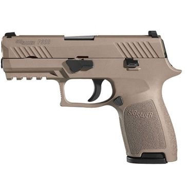 "Sig Sauer P320 9mm 3.9"" Dark Earth Compact Handgun"