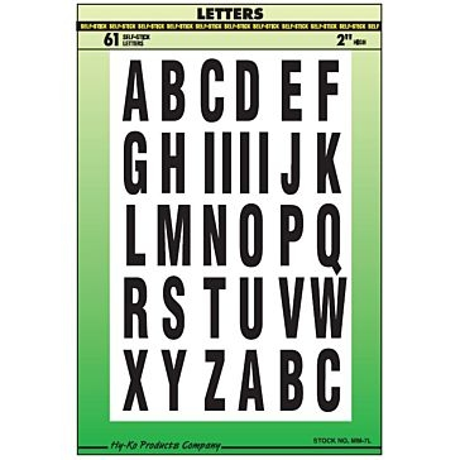 "2"" Vinyl Letters"