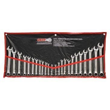 GRIP 24-Piece SAE & MM Wrench Set