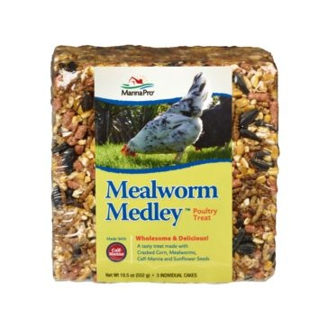 Manna Pro Mealworm Medley Poultry Treat 3PK
