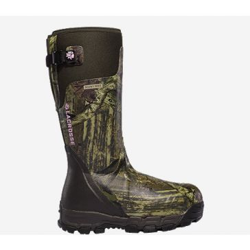 "Womens Alphaburly Pro 15"" Mossy Oak Break Up Infinity 1600g Rubber Boots"