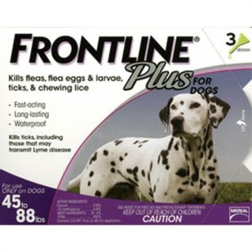 Frontline Plus for Dogs 45-88lb 3mo Supply