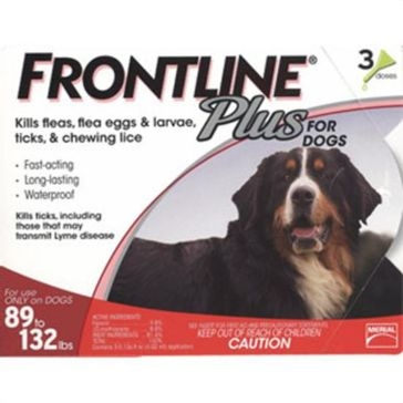 Frontline Plus for Dogs 89lb+ 3mo Supply