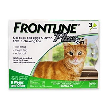 Frontline Plus for Cats Any Size 3mo Supply