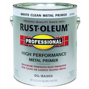 Rust-Oleum Professional White Clean Metal Primer 1Gal