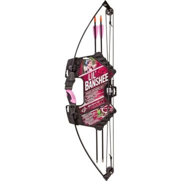 Barnett Lil' Banshee Youth Archery Compound Bow Set 1072P Pink
