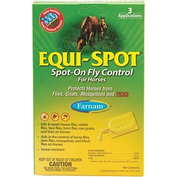 Farnam  Equi-Spot Spot On Fly Control for Horses 3 Applications