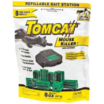 Tomcat Mouse Killer I Refillable Bait Station with 8-1oz Bait Chunks 22778