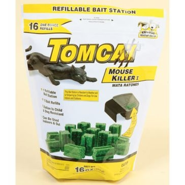 Tomcat Mouse Killer I Refillable Bait Station with 16-1oz Bait Chunks 22786