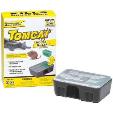 Tomcat 2 Pack Mouse Killer II Disposable Bait Stations 23620
