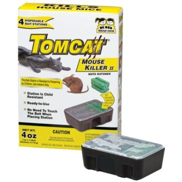 Tomcat 4 Pack Mouse Killer II Disposable Bait Stations 23640