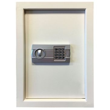 Buffalo Tools Electronic White Lock Wall Safe WLSFB
