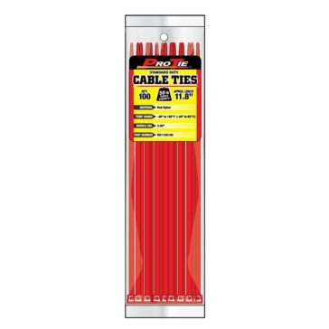 Pro Tie Red Nylon 50lb Standard Duty Cable Ties
