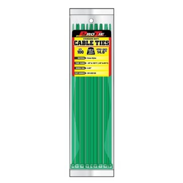 Pro Tie Green Nylon 50lb Standard Duty Cable Ties