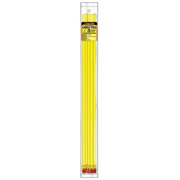 Pro Tie Yellow Nylon 200lb Releasable/Reusable Cable Ties