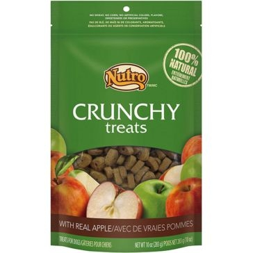 Nutro Crunchy Dog Treats with Real Apple 10oz