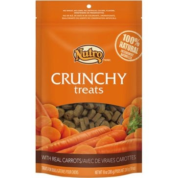 Nutro Crunchy Dog Treats with Real Carrots 10oz