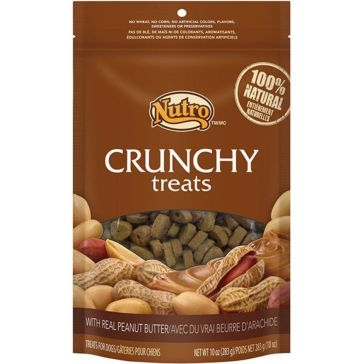 Nutro Crunchy Dog Treats with Real Peanut Butter 10oz