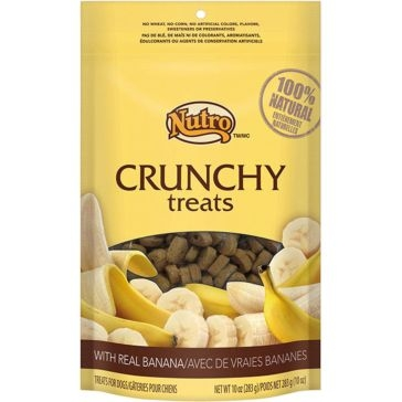 Nutro Crunchy Dog Treats with Real Bananas 10oz